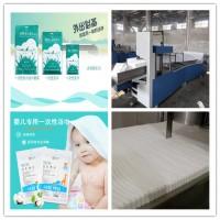 定制一次性毛巾折叠机加包装机 做无纺布美发巾足浴巾生产设备