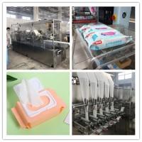 湿巾纸生产线设备 折叠加湿到包装出来成品 消毒80片湿巾机