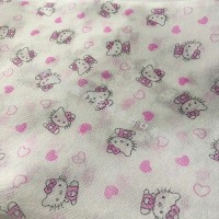 凯蒂猫一次性无纺布 印花图案可定制 泉州厂家直销