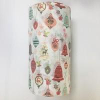 圣诞铃铛彩色图案印花水刺无纺布福建源头厂家直销