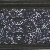 现货出售潮流蕾丝印花无纺布 一次性口罩三层防护黑色蕾丝
