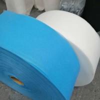 厂家直销批量生产双S蓝白无纺布 三层防护口罩专用布