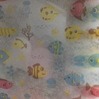 福建厂家 小鱼图案无纺布 口罩布 图案可定制
