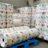 厂家直供全新pp粒料淋膜印花无纺布收纳箱整理箱无纺布