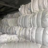 白色涤粘水刺无纺布开花料 已打压缩包 有9.6米一车货